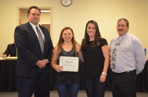 Sachem North field hockey goalie Chelsea Palma recognized.