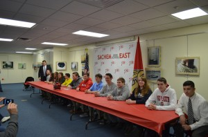 More than a dozen student-athletes at Sachem East signed with colleges.