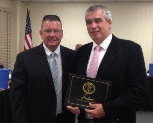 Sachem Superintendent James Nolan and Sachem North Principal John Dolan.