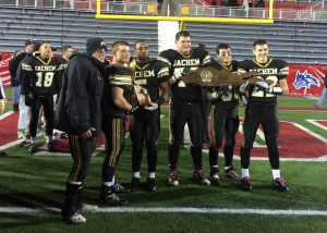 Captains with trophy