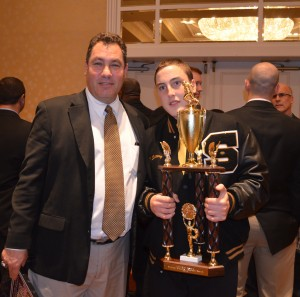 Sachem coach Dave Falco and Michael Slattery.