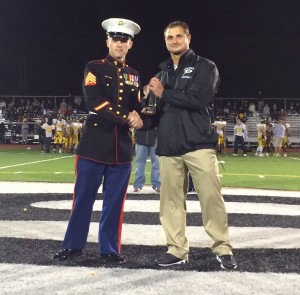Dave Caputo accepting his Great American Rivalry Series Hall of Fame honor.